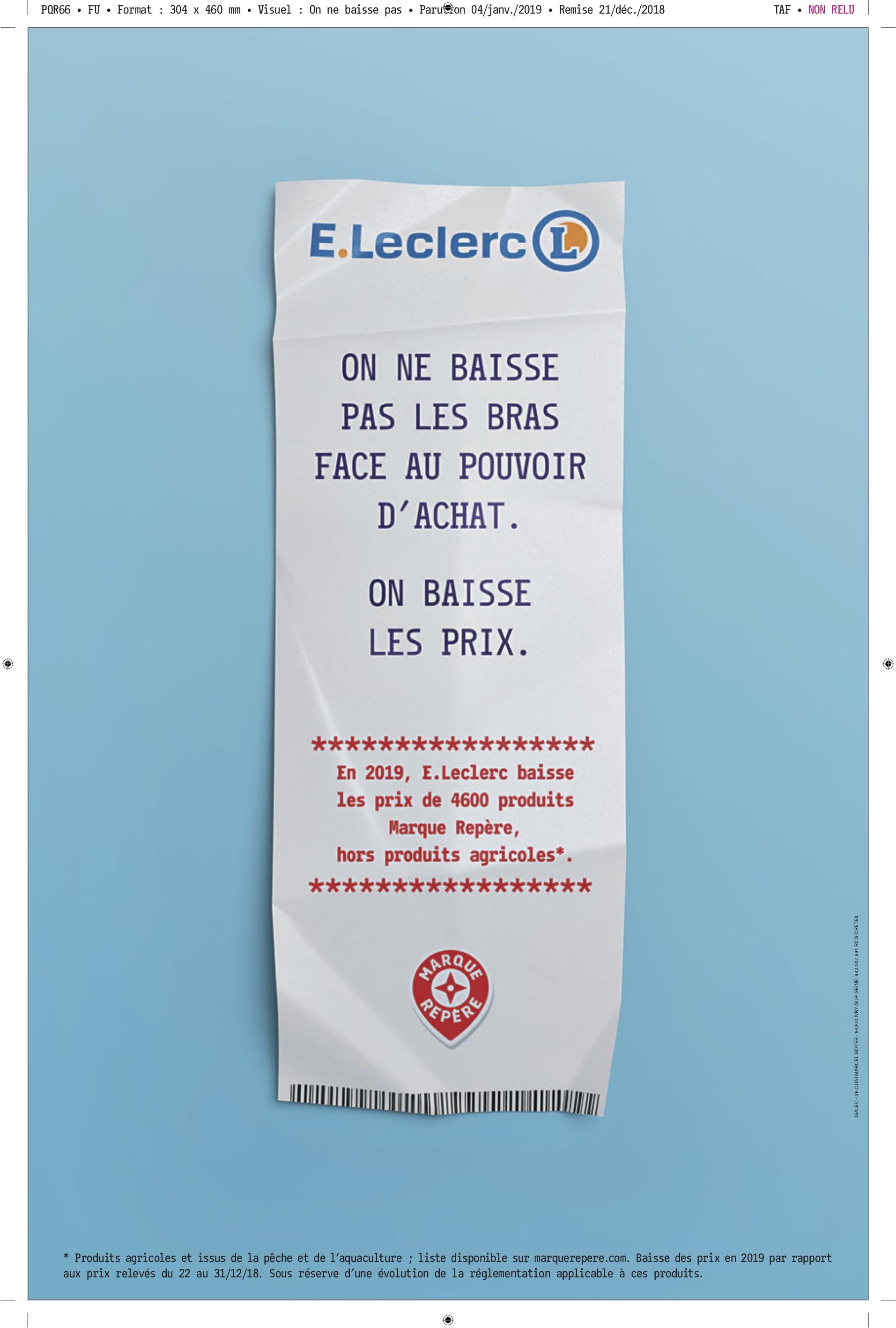 Pouvoir Dachat Eleclerc Baisse Les Prix De 4600